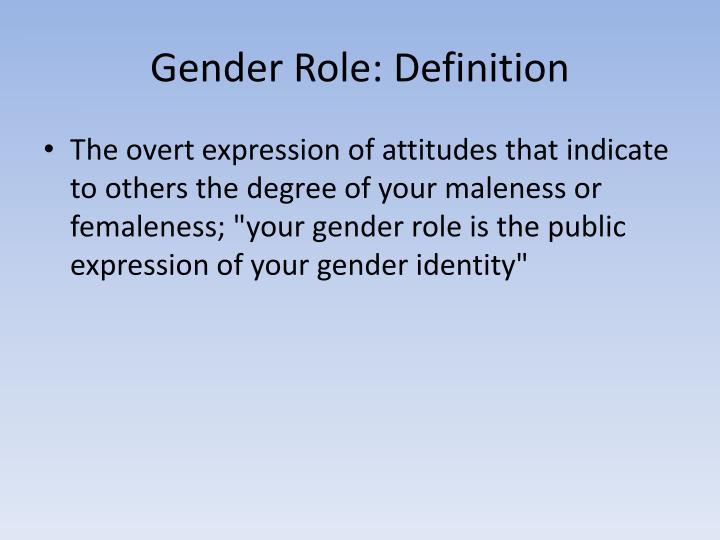 Gender Role: Definition