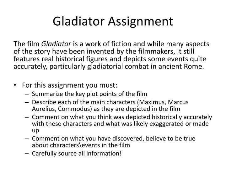 Gladiator assignment
