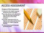 access assessment