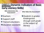 dibels dynamic indicators of basic early literacy skills1