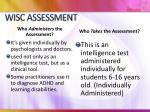 wisc assessment1