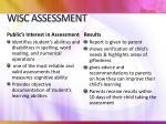 wisc assessment3