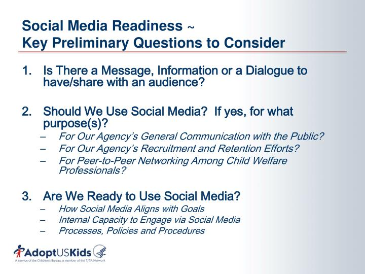 Social media readiness key preliminary questions to consider
