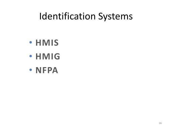 Identification Systems