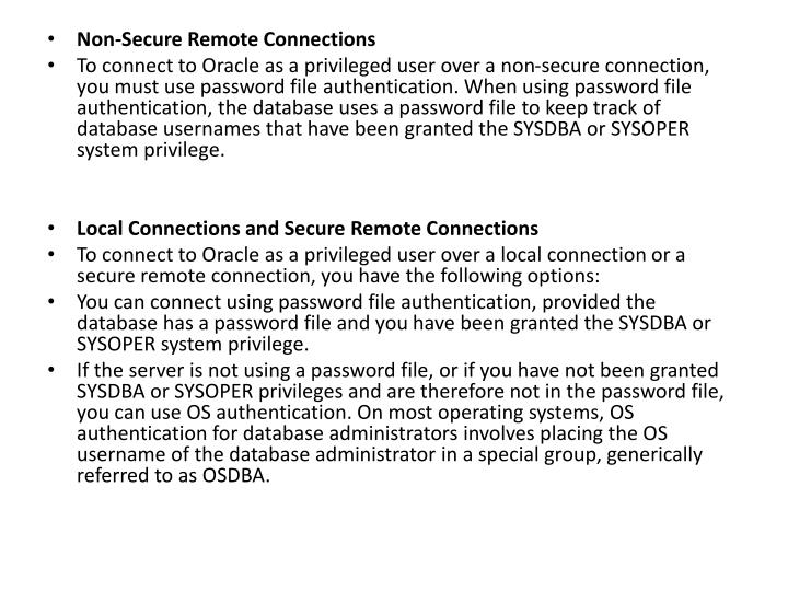 Non-Secure Remote Connections