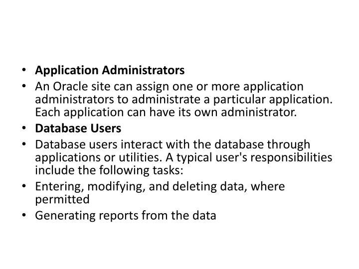 Application Administrators