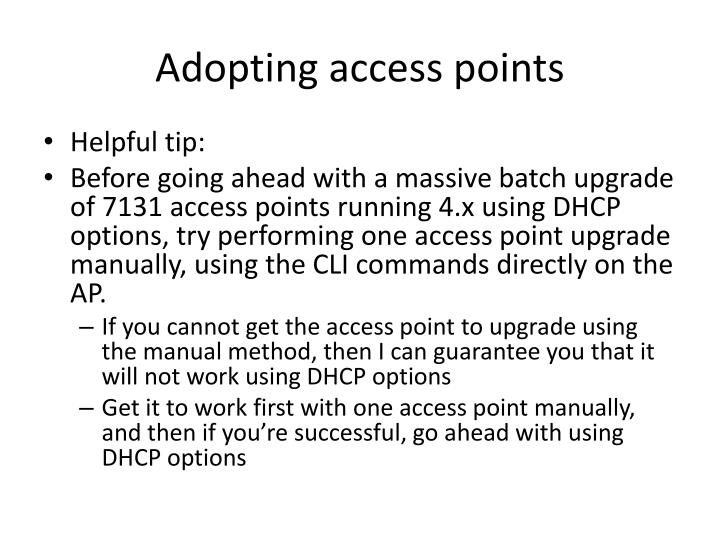 Adopting access points