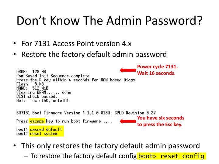 Don't Know The Admin Password?