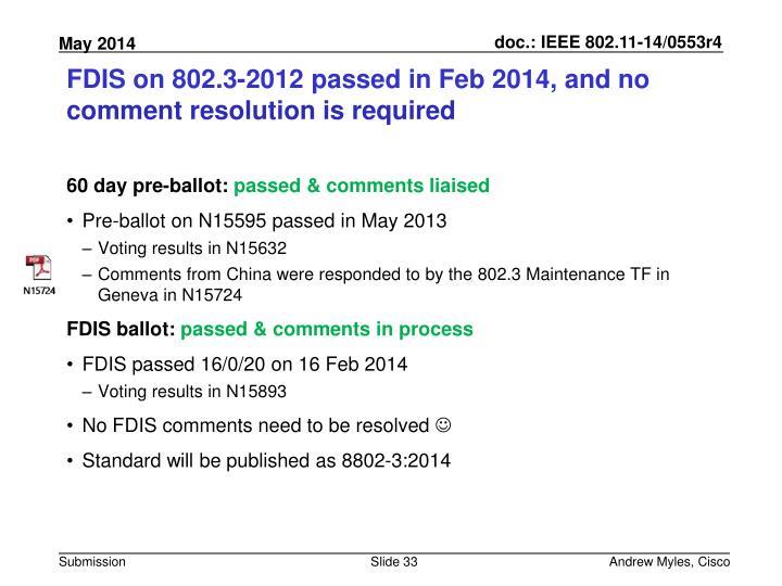 FDIS on 802.3-2012
