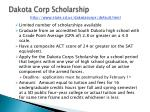dakota corp scholarship