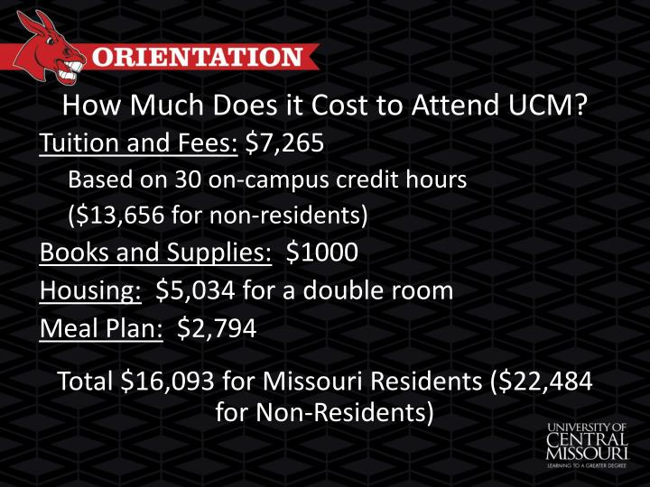 How much does it cost to attend ucm