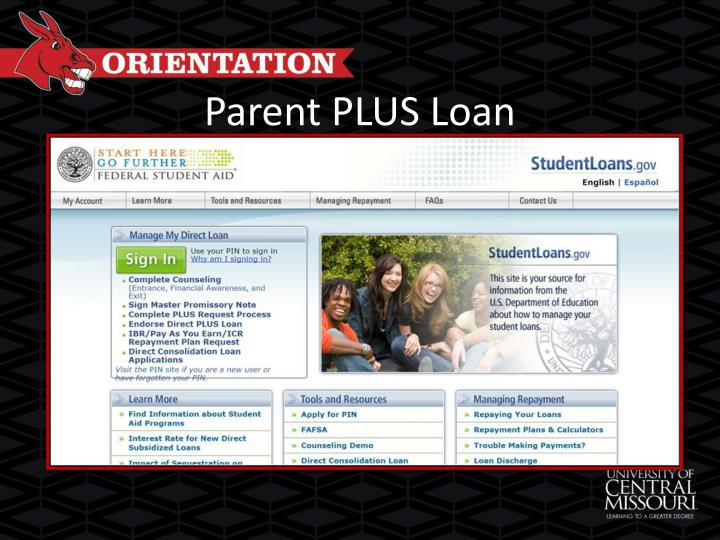 Parent PLUS Loan