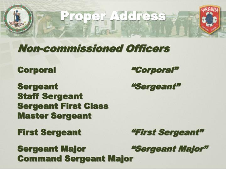 Proper Address
