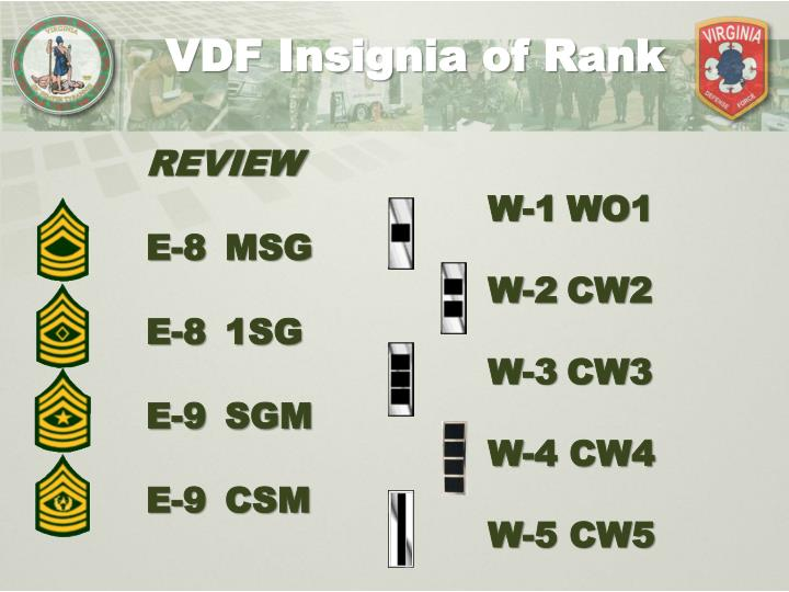 VDF Insignia of Rank