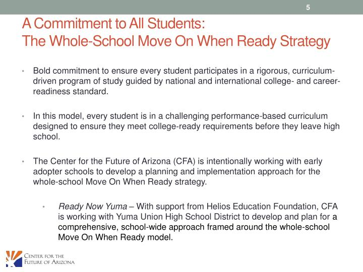A Commitment to All Students:
