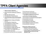 tpfa client agencies