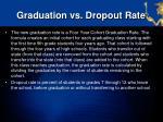 graduation vs dropout rate