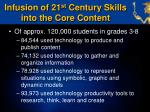 infusion of 21 st century skills into the core content