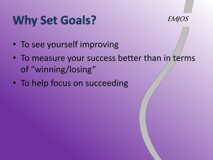 Why set goals