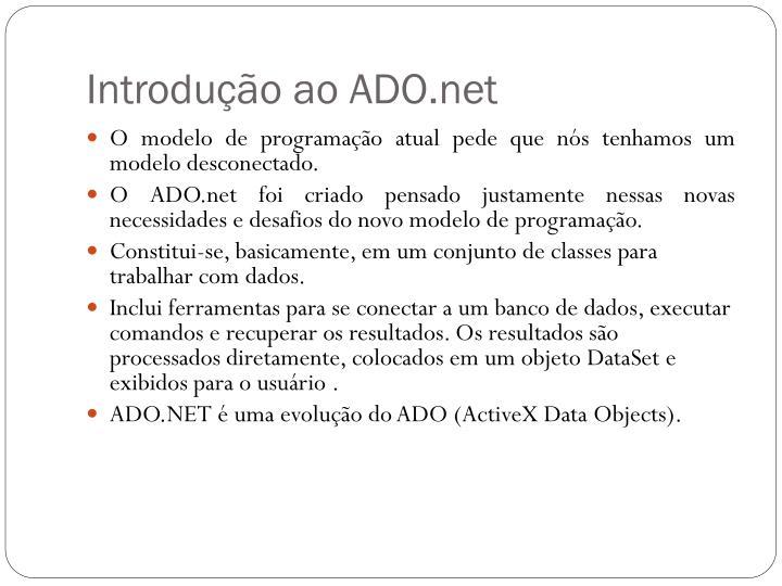 Introdu o ao ado net1