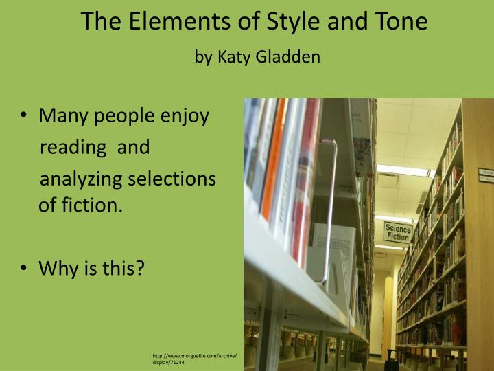 the elements of style and tone by katy gladden