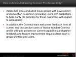 how is adobe addressing connect pro accessibility1