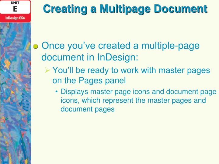 Creating a multipage document