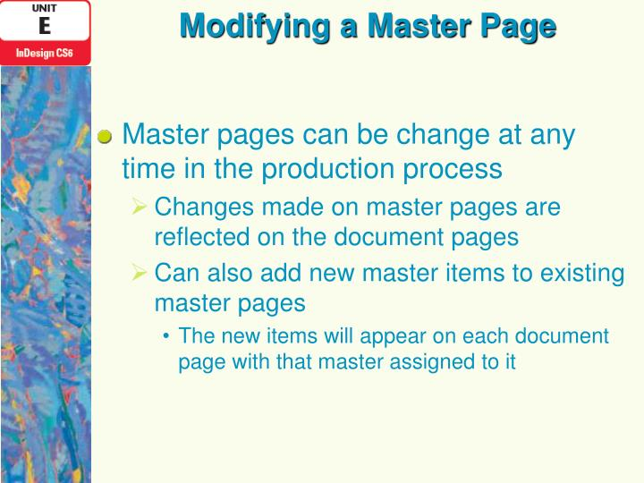 Modifying a Master Page