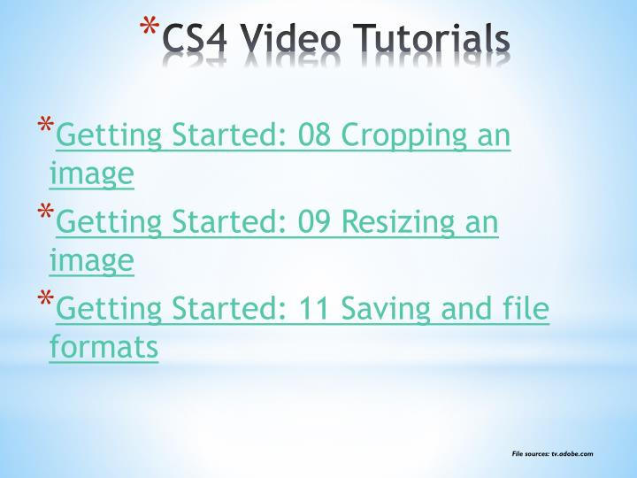 Getting Started: 08 Cropping an image