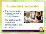 attainable achievable