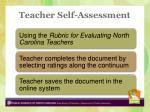 teacher self assessment