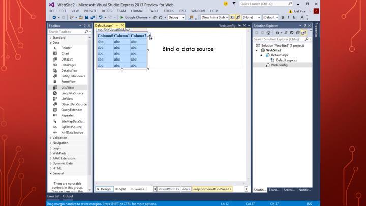 Bind a data source