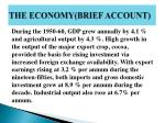 the economy brief account