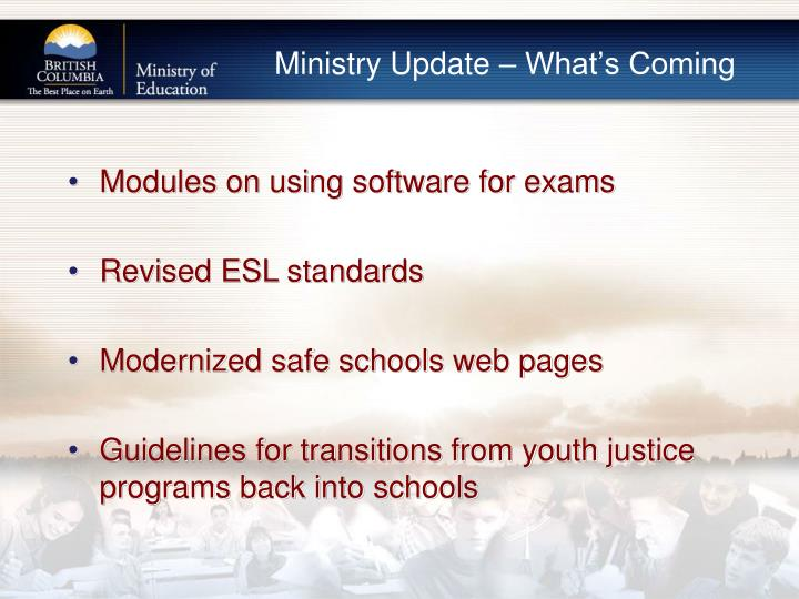 Ministry Update – What's Coming