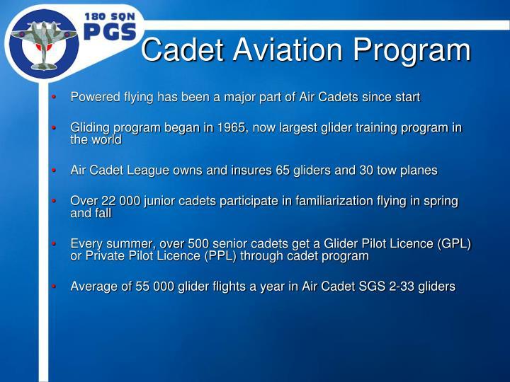 Cadet aviation program