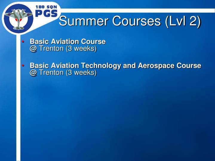 Summer Courses (Lvl 2)