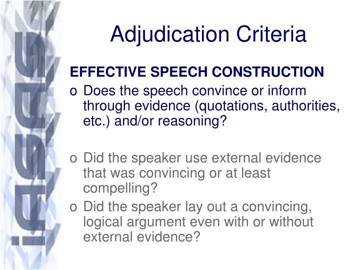 Adjudication criteria2