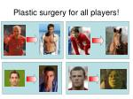 plastic surgery for all players
