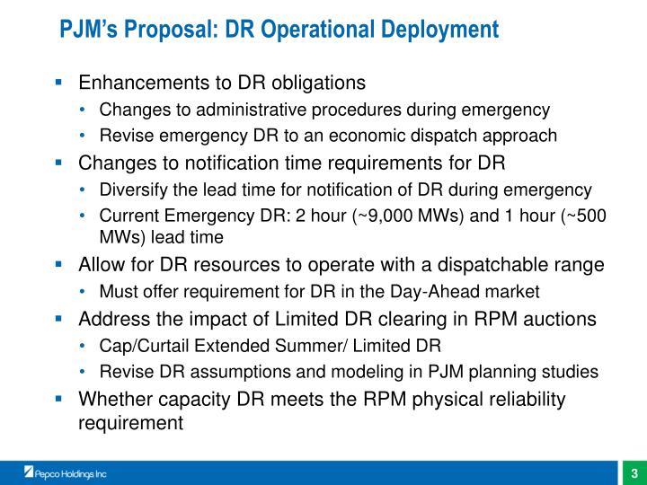 Pjm s proposal dr operational deployment
