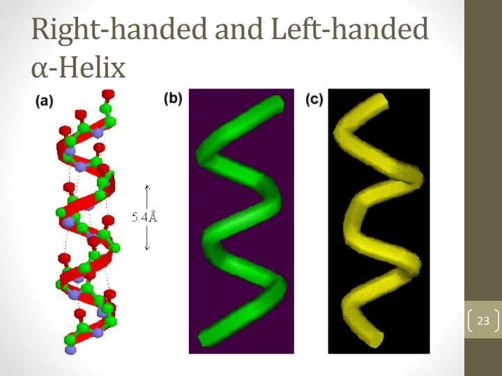 Right-handed and Left-handed