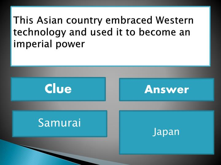 This Asian country embraced Western technology and used it to become an imperial power