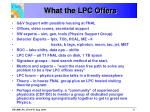 what the lpc offers