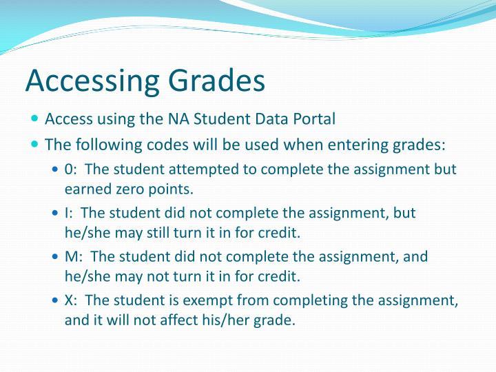 Accessing Grades