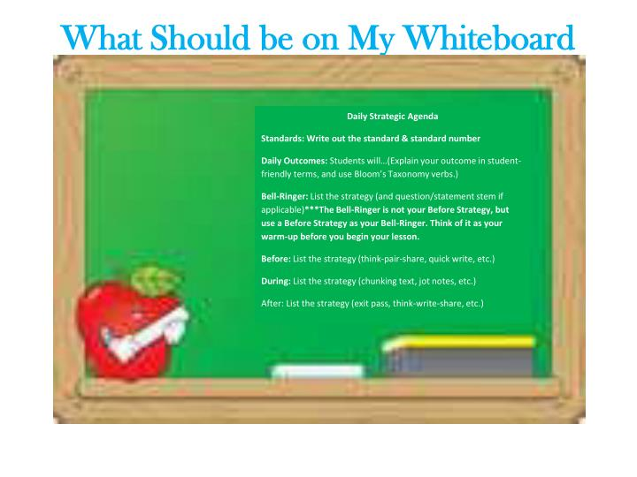 What Should be on My Whiteboard Every Day?