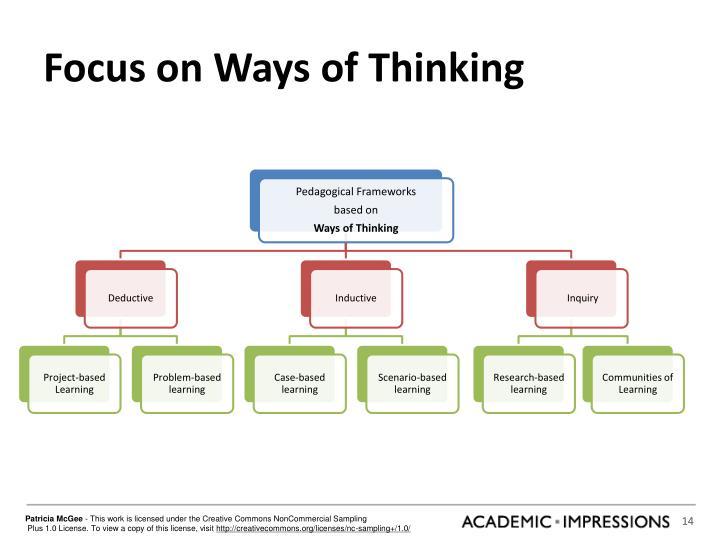 Focus on Ways of Thinking