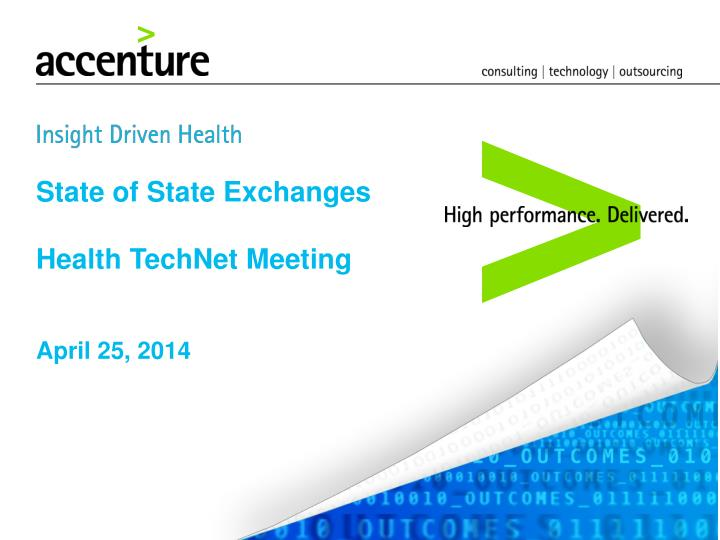 state of state exchanges health technet meeting n.