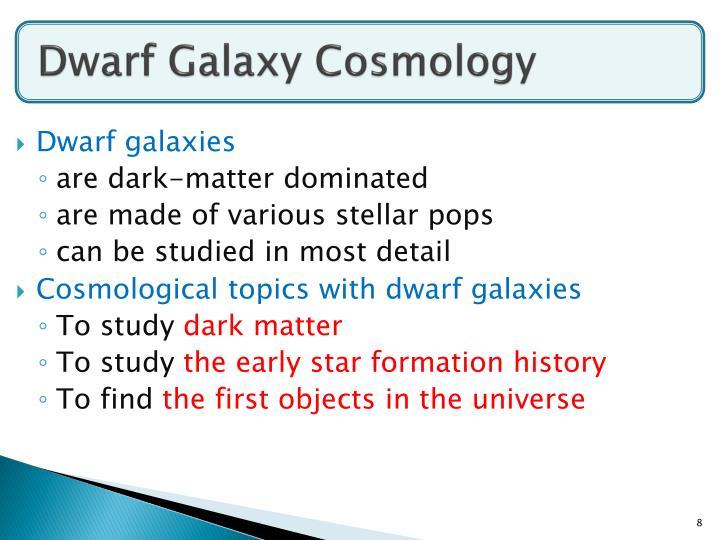 Dwarf Galaxy Cosmology
