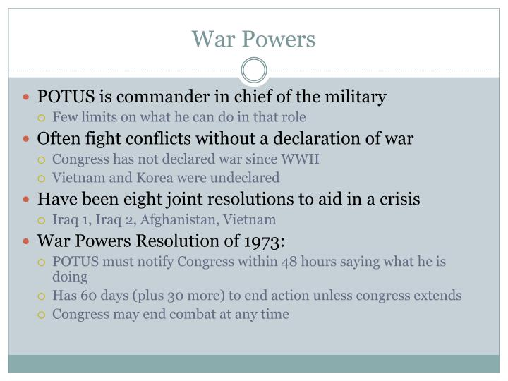 War Powers