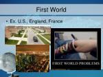 first world
