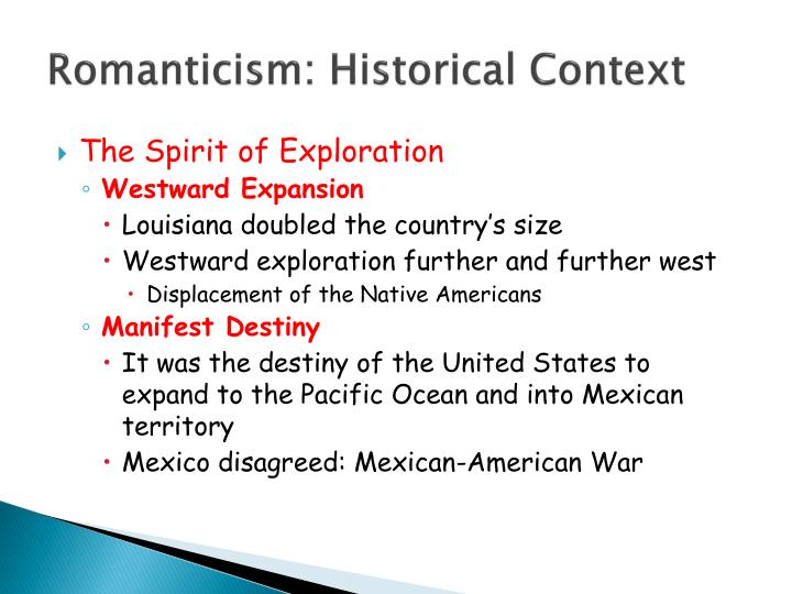 Romanticism historical context
